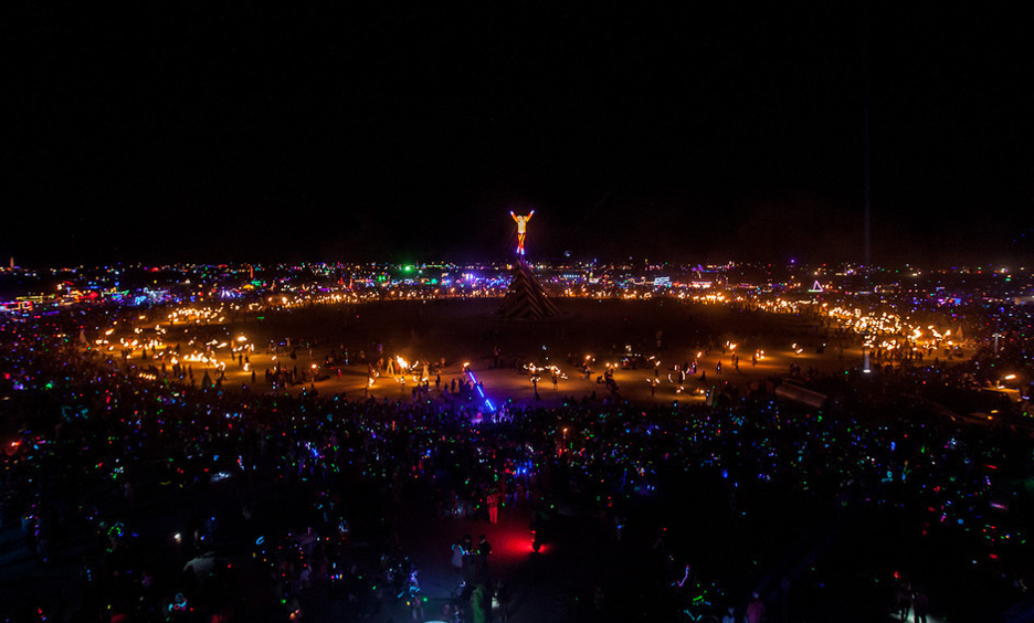 Photo from night of the burn by BM Staff