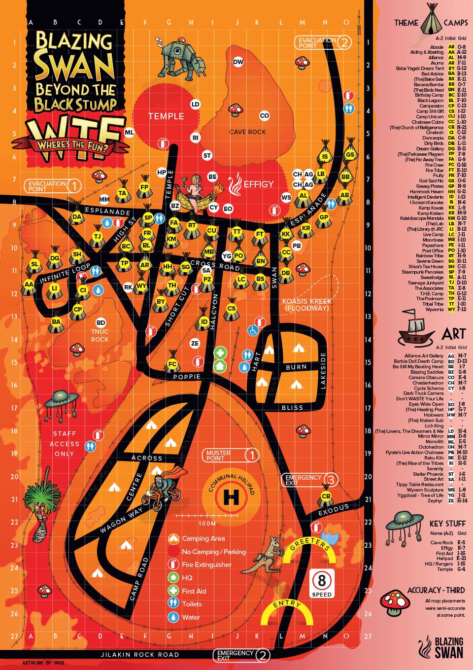 Blazing Swan Map 2018